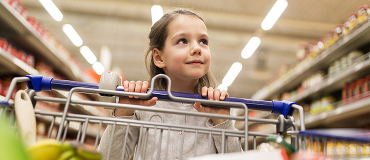A child shopping.