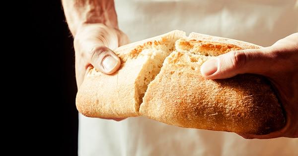 Sharing bread, man.